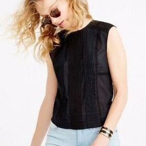 J.Crew Crochet Panel Cropped Shell